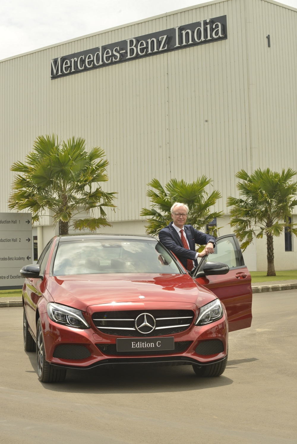 Roland Folger, MD&CEO - Mercedes-Benz India with newly launched C-CLass ...