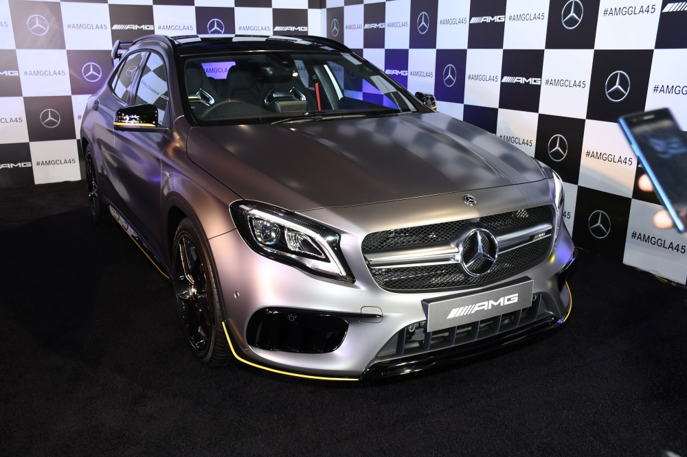 The newly launched Mercedes-AMG GLA 45 4MATIC Aero Edition in 'designo MAGNO' paint finish.jpg